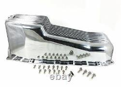 Petit Bloc Chevy Aluminium Poinçon D'huile S'adapte 86-up 283-350 4 Qt Capacité Polie