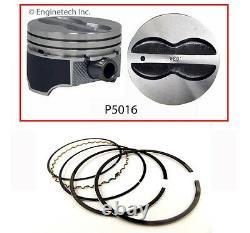 Pistons Plats Hypereutectic De Dessus De Jupe Enduits Avec Des Anneaux Pour Chevrolet Sbc 350 5.7l