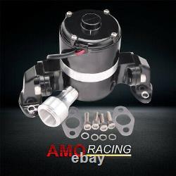 Pompe À Débit Élevé En Aluminium Pompe À Eau Électrique 12v Noir Convient Chevy Sbc 350 383