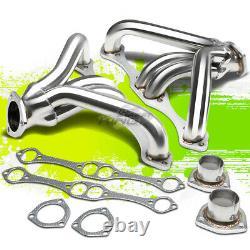 Pour Chevy Small Block Sbc Hugger 262-400 302 V8 Angle Plug Header Tight Fit Header