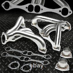 Pour Petit Bloc Hugger Sbc 262-400 265 Angle Plug Head Manifold Tight Fit Header