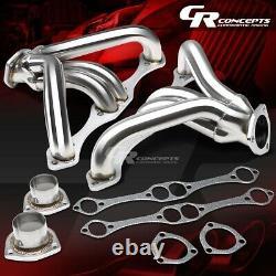 Pour Petit Bloc Hugger Sbc 262-400 327 Angle Plug Head Manifold Tight Fit Header