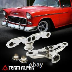 S'adapte 1955-1957 Small Block Chevy Tri-5 Hugger Style Ss Exhaust Manifold Header