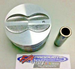 S'adapte À Small Block Chevy 350 Engine Flat Top Coated Pistons Silvolite 3437hc+. 040