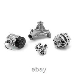 S'adapte Chevy Sbc 350 Aluminium Serpentine Complete Engine Pulley & Components Kit