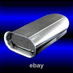 Sbc Hilborn Scoop S'adapte Dual Carburetors Au 283 327 350 383 400 Small Block Chevy
