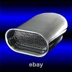Sbc Polished Aluminum Scoop S'adapte 283 327 350 383 400 Sb Chevy Single Carburetor