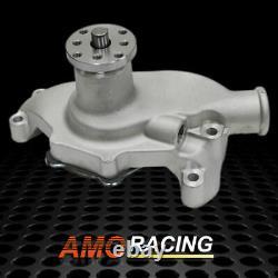 Short Style High Flow Water Pump High Volume Aluminium Fit Sbc Chevy 283 327 350