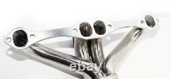 Twin Ss Header/manifold Fit 66-96 Chevy Small Block V8 Angle Plug Head 265 283
